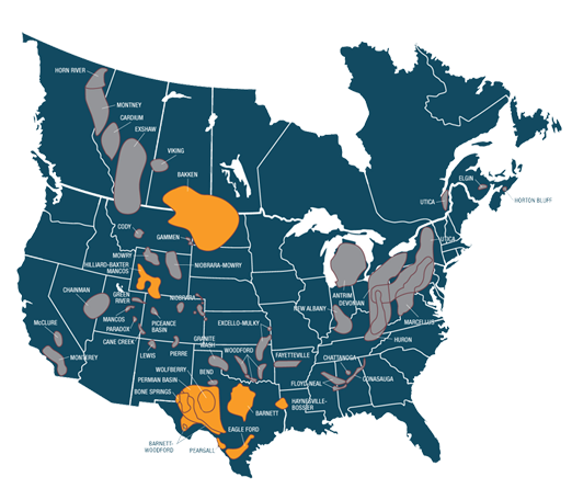 Oil Field Logistics Supply Chain Solutions Shale - Shale oil map us
